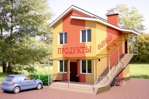 Визуализация  и Фотопривязка к местности здания в г.Касимов