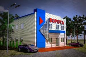 Визуализация проектируемого здания. Цветовое решение. г. Рязань